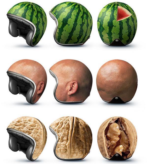 Schärfer als erlaubt: Mit diesen Helmen fallen Sie garantiert auf!