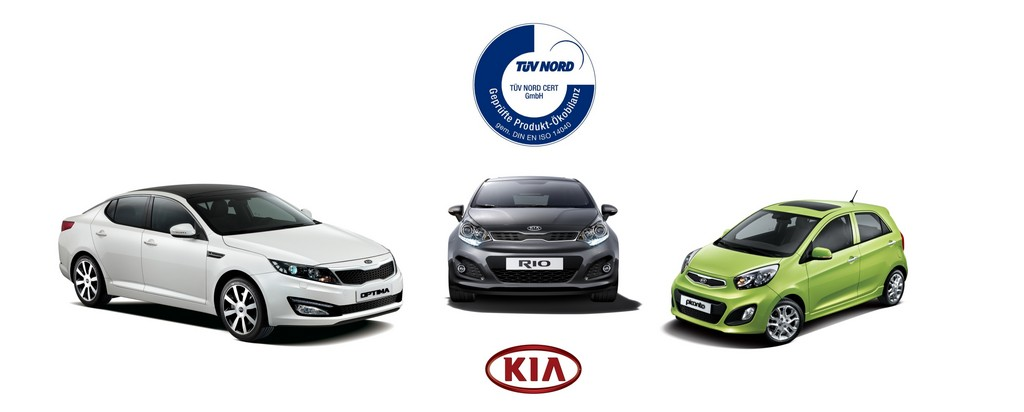Umwelt-Zertifikat für drei Kia-Modelle
