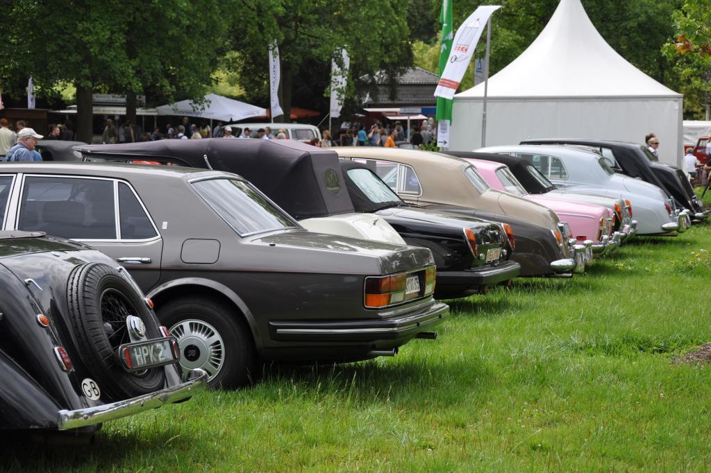 Verschiedene Rolls-Royce-Baureihen waren vertreten