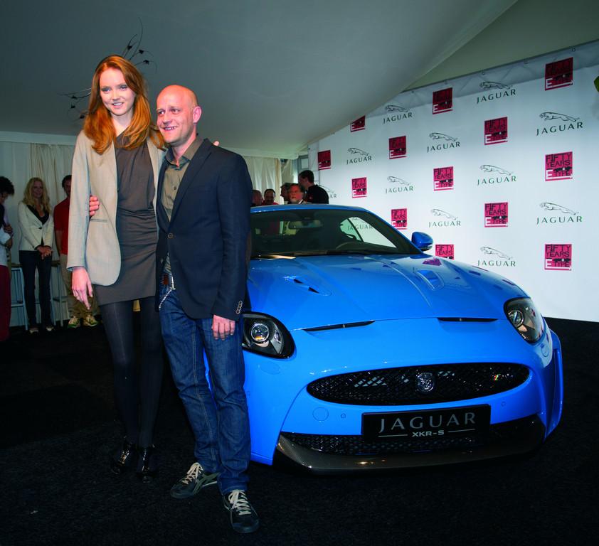 Zu Gast bei der Deutschlandpremiere des Jaguar XKR-S und der 50-Jahr-Feier für den E-Type: Lily Cole und Jürgen Vogel.