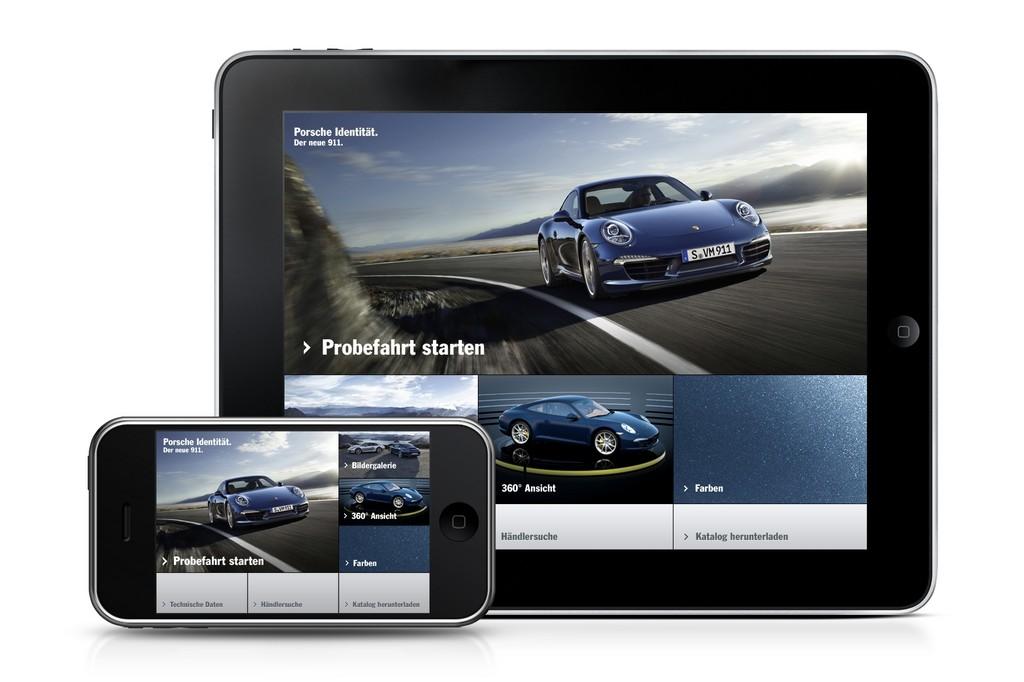 """App: """"Porsche Identität. Der neue 911."""""""