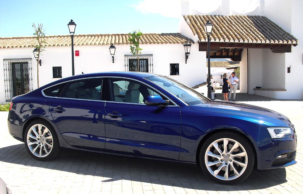 Audi A5: So sieht der Sportback von der Seite aus.