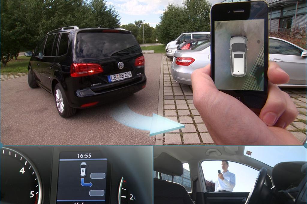 Autonomes Parken - Einparken mit dem Handy