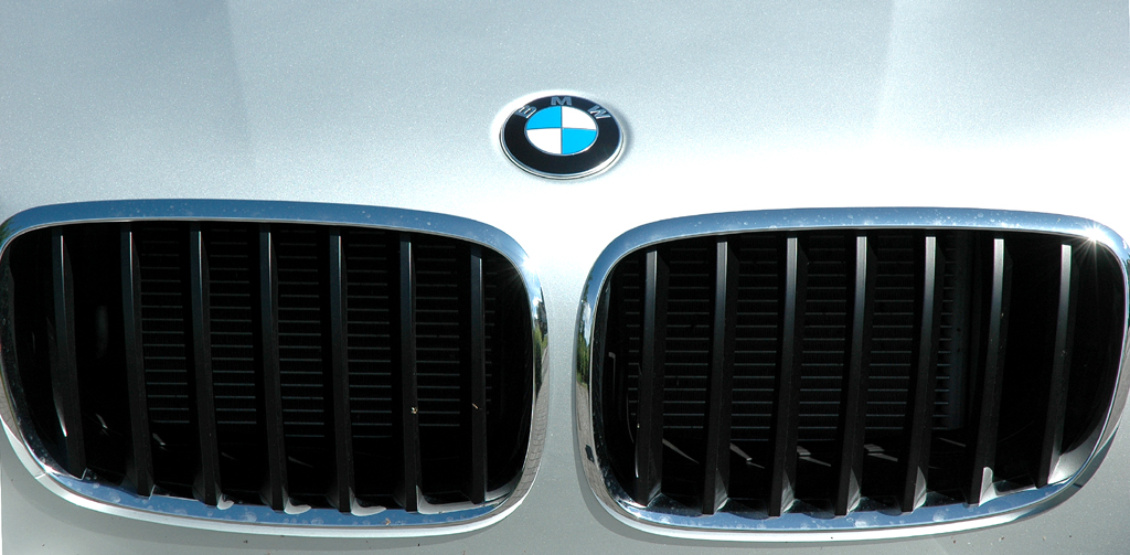 BMW X6 xDrive 30d: Das Markenlogo sitzt vorn auf der Motorhaube über der Doppeltiere.