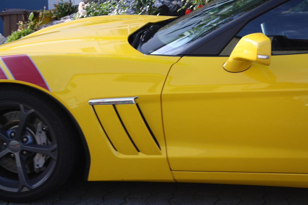 Bei einem Sportwagen, wie der  Corvette Grand Sport, ist es hilfreich, wenn der Fahrer eine kontaktfreudige Persönlichkeit hat,