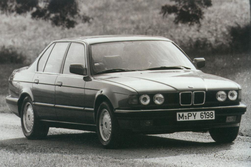 Der BMW 735i im Jahr 1986