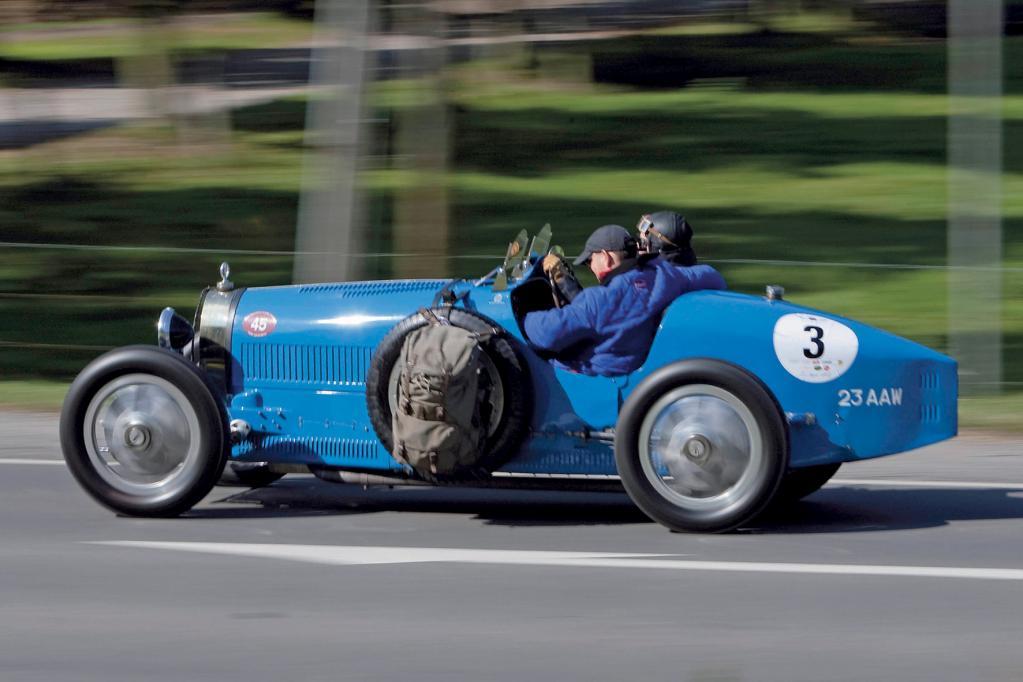 Der Bugatti Typ 35 aus dem Jahr 1926 geht bei der Rallye Historique an den Start.