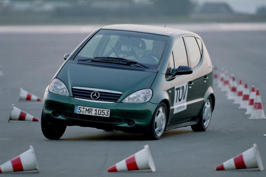 Die Mercedes A-Klasse beim Elchtest