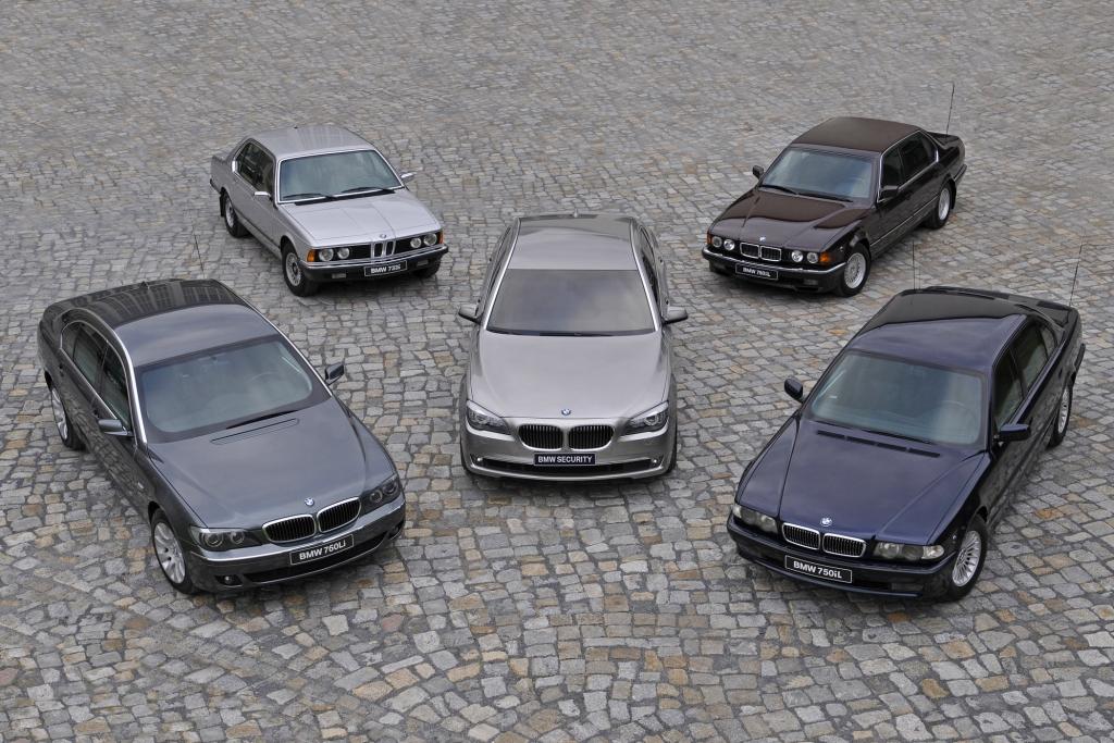 Die verschiedenen Generationen des BMW 7er