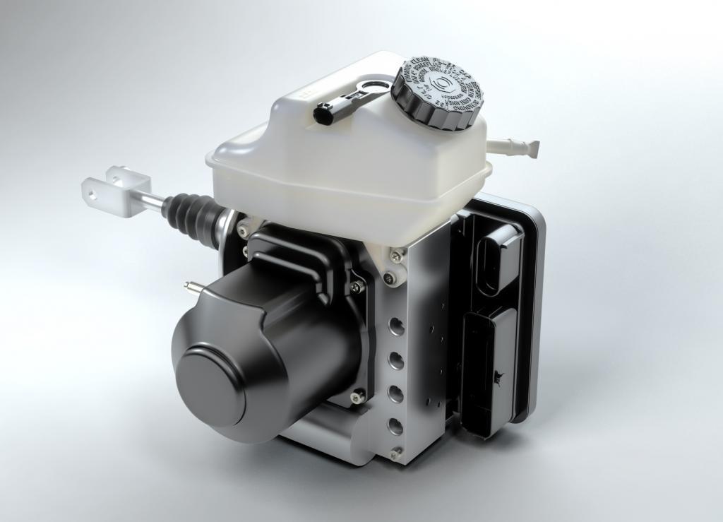 Elektromotor für Bremskraftverstärker - Flüsterbremse für E-Autos
