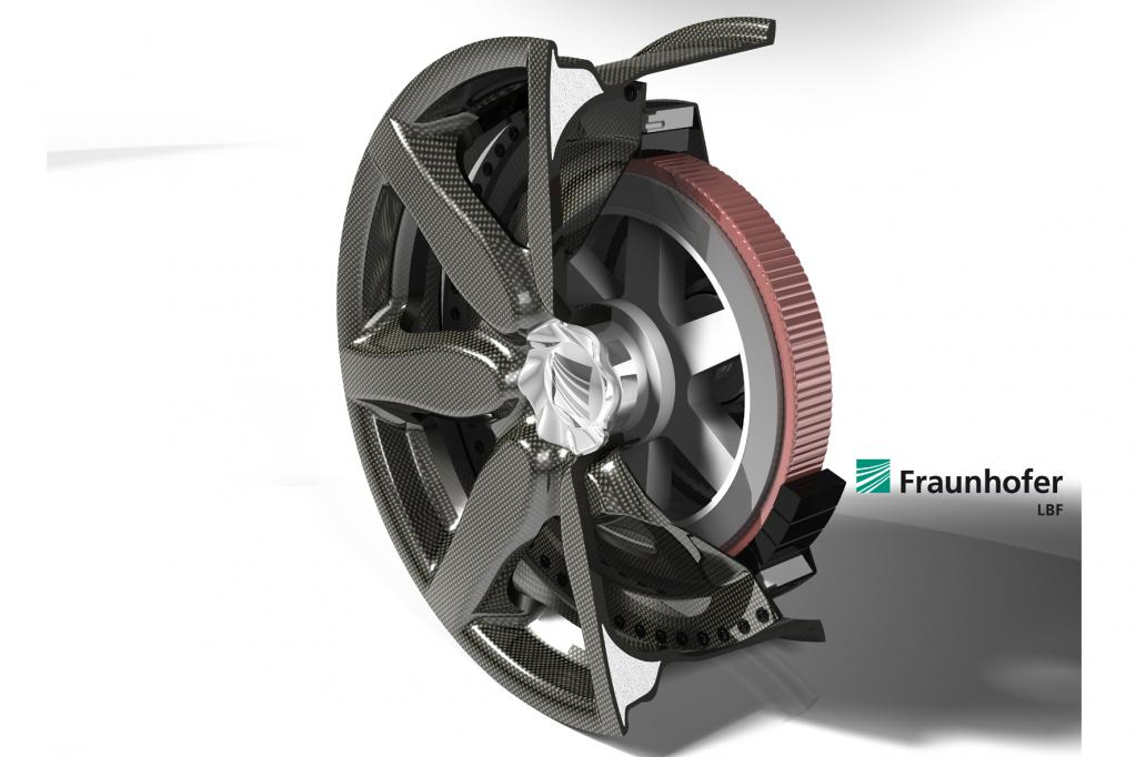 IAA 2011: Kunststoff-Rad mit integriertem Radnabenmotor