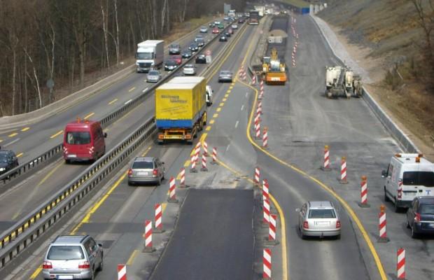 Mehr Unfälle mit Sachschaden in Autobahnbaustellen