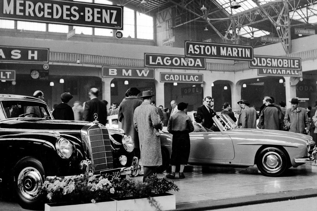 Mercedes Benz 300 und 190 SL auf dem Genfer Autosalon 1954