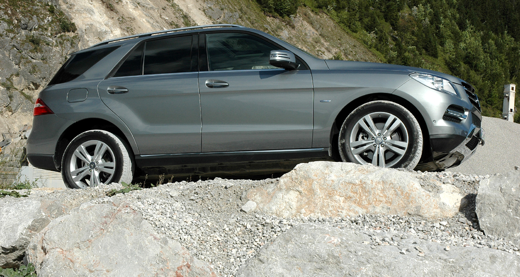 Mercedes M-Klasse: Und so sieht die Neuauflage von der Seite aus.