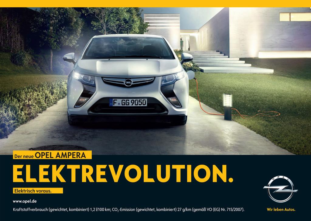 Opel startet Werbekampagne für den Ampera