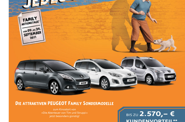 Peugeot veranstaltet Family-Aktionstage