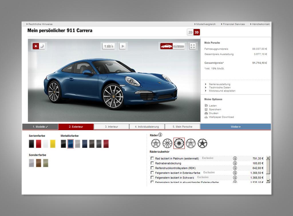 Porsche Car Configurator.