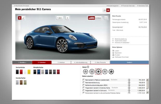 Porsche setzt mit dem Car Configurator neue Maßstäbe