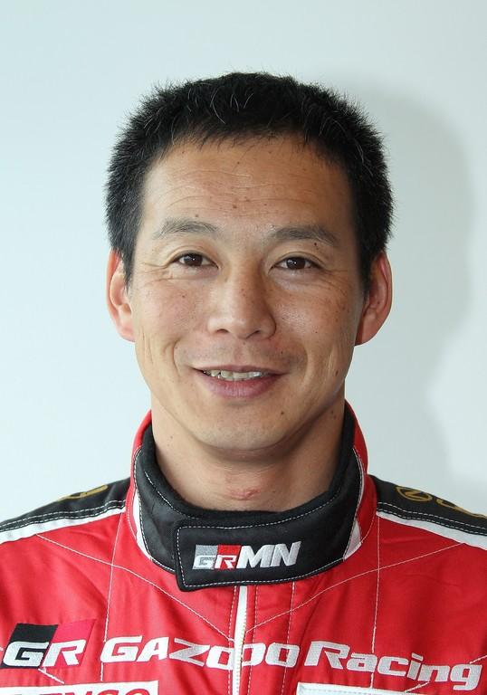 Renn- und Testfahrer Akira Iida.