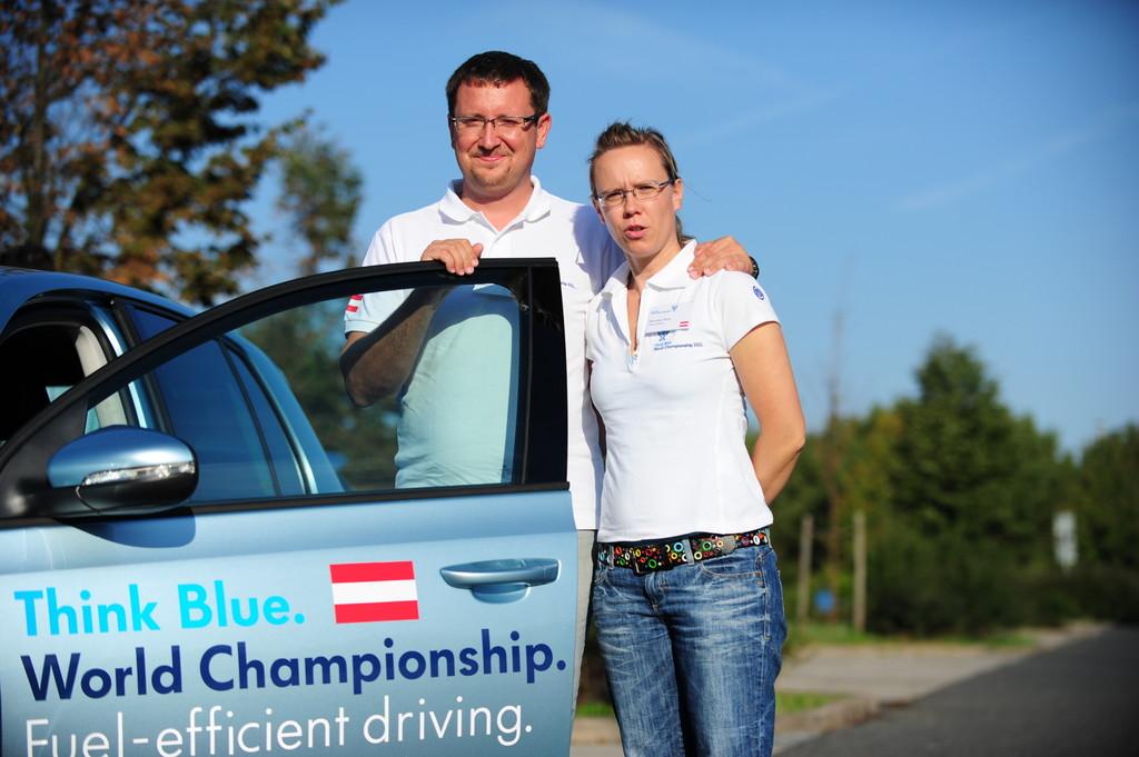 Spritspar-Welmeisterschaft von Volkswagen: Manuale und Gilbert Plank aus Österreich siegten.