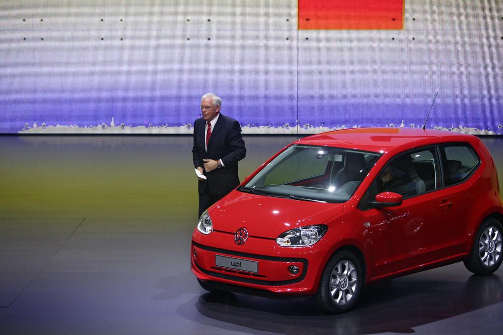 Ulrich Hackenberg, Volkswagen-Entwicklungsvorstand, bei der VW-Vorabendversanstaltung