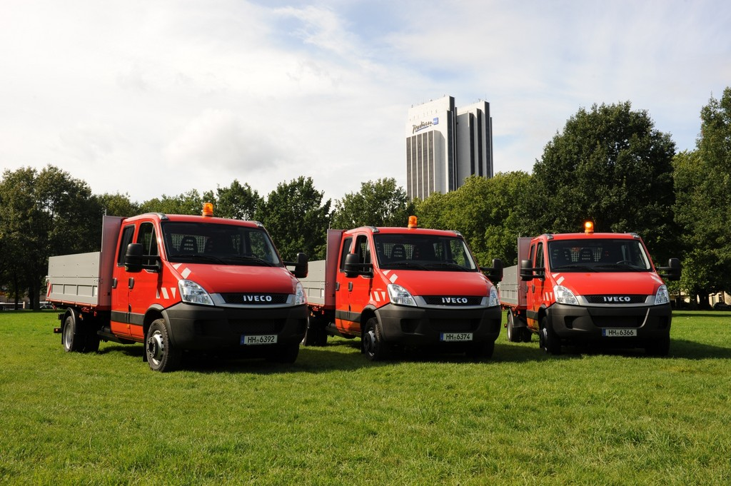 Vier Iveco Eco-Daily mit Erdgasantrieb für Hamburg