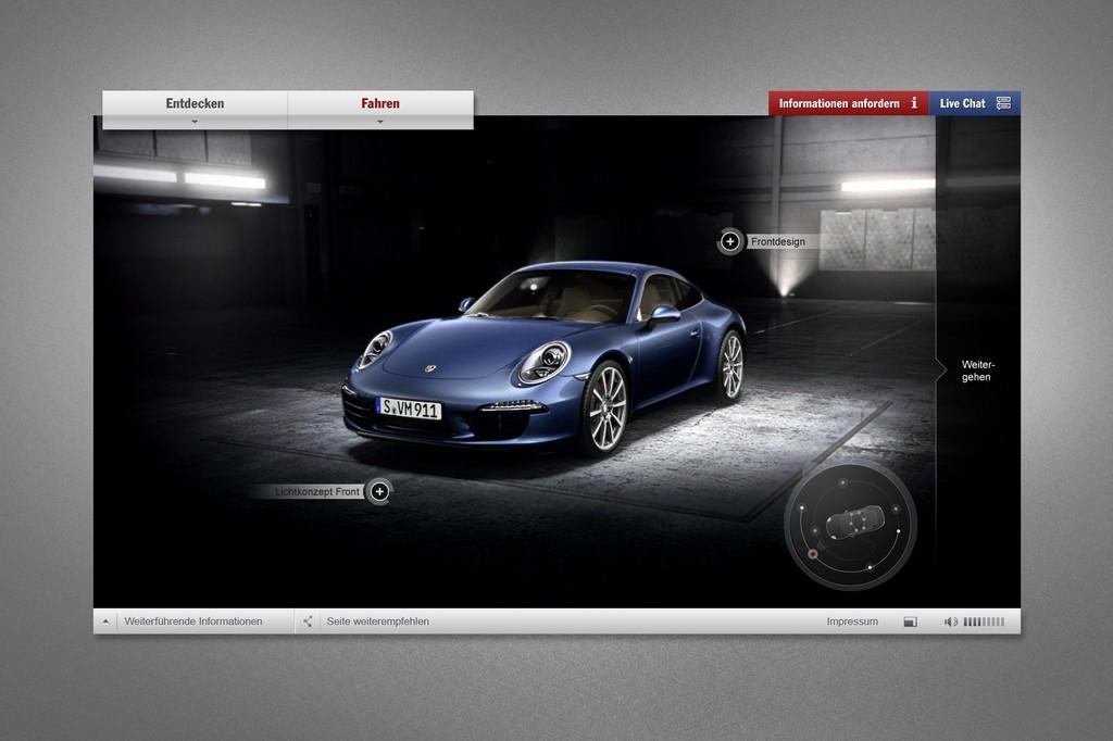 """Webspecial: """"Porsche Identität. Der neue 911."""""""