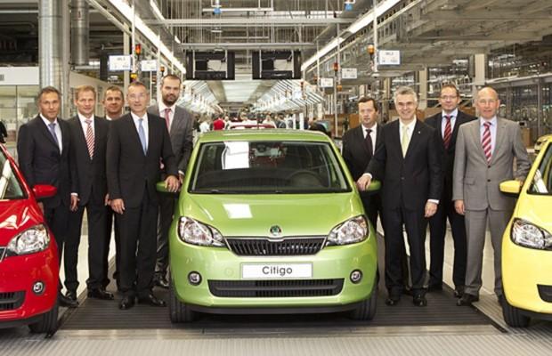 Škoda startet in Bratislava die Produktion des Kleinwagens Citigo