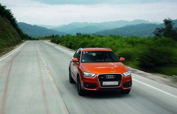 20 Audi Q3 auf Tour durch China