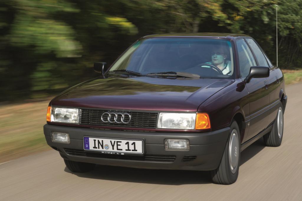 Als 1986 die Baureihe B3 startete, war der Audi 80 längst ein Millionenseller
