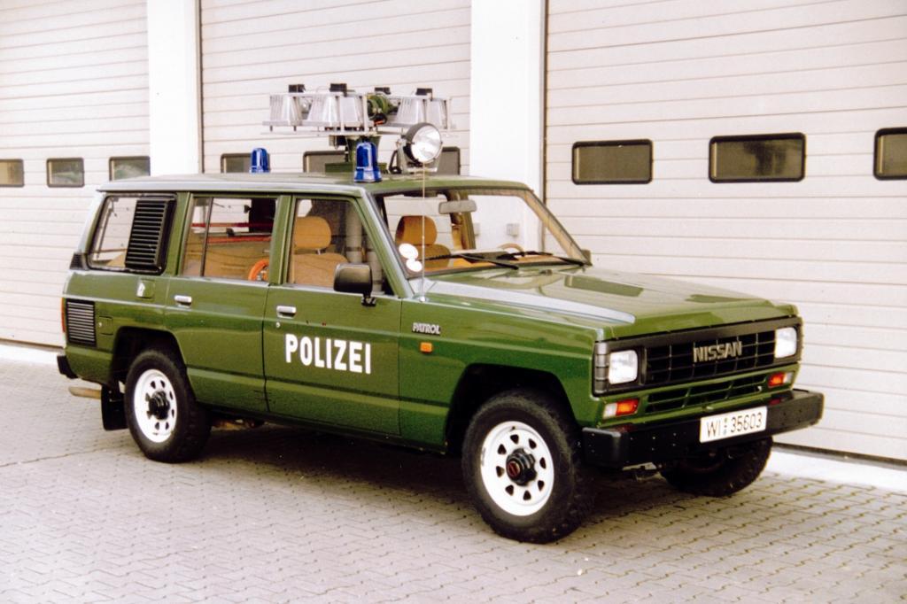 Auch die deutsche Polizei nutzte den Nissan Patrol