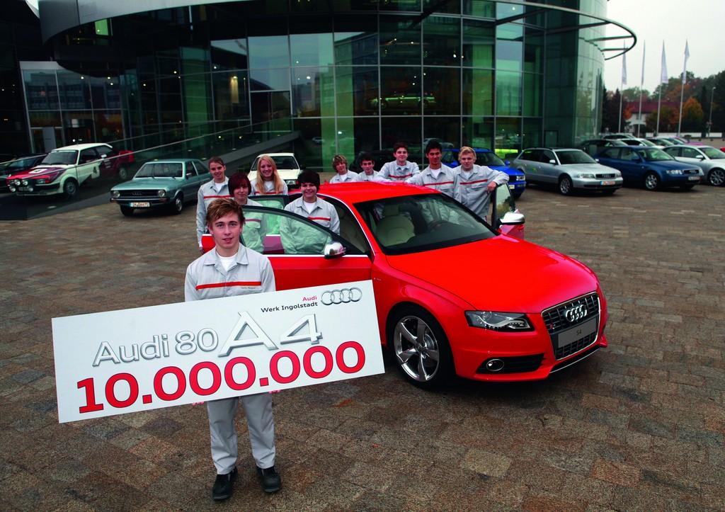 Audi feiert sein zehnmillionstes Auto in der Mittelklasse