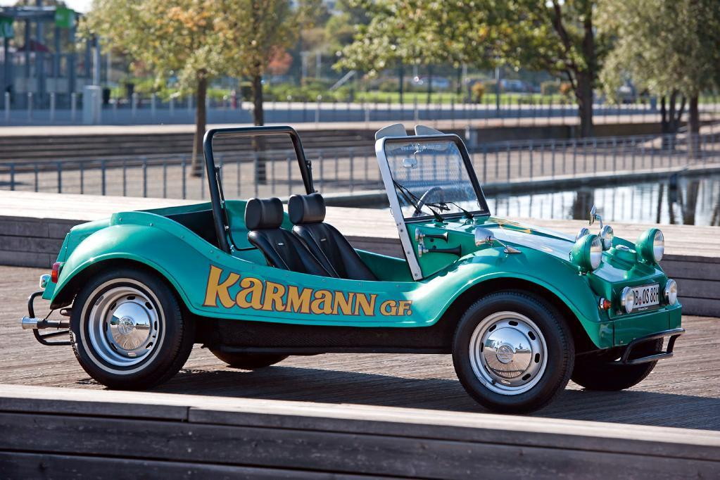 Ausgelöst hat die Buggy-Welle in Deutschland unter anderem der Karmann GF , der mit Käfer-Motor als Bausatz oder als Neufahrzeug bei Karmann bestellt werden konnte.