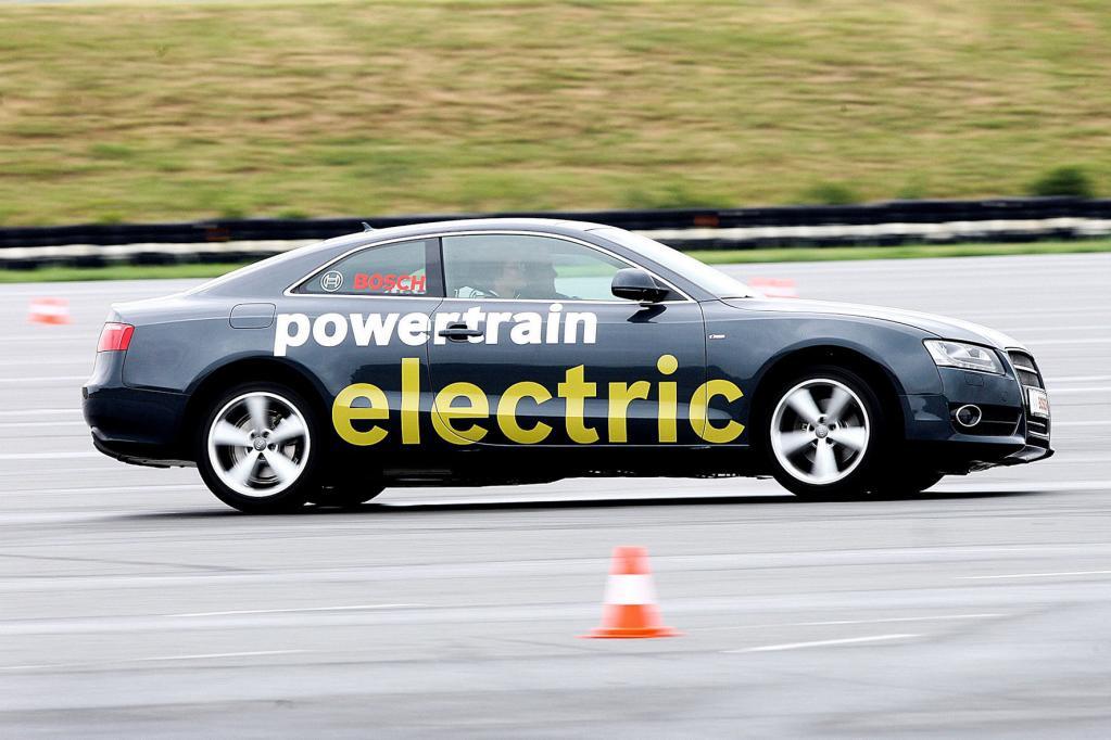 Bosch baut in Rekordzeit Audi A5 zum E-Mobil um