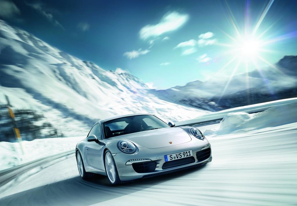 Den Porsche 911 im Winter erfahren