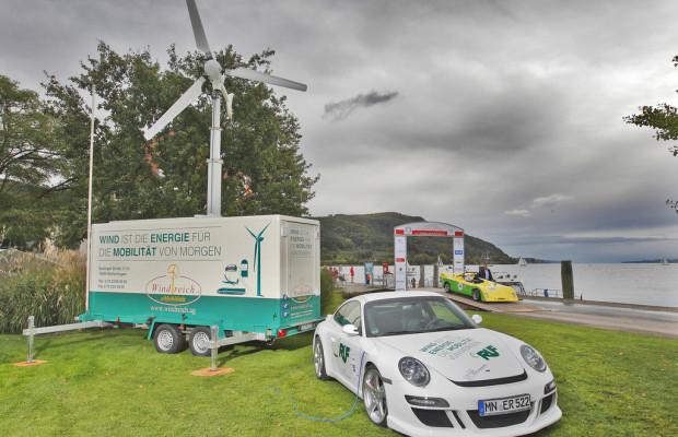 Eigene Windkraftanlage für Elektro-Porsche