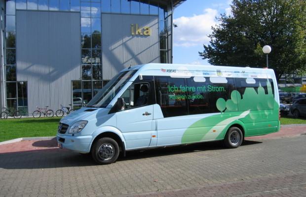 Elektrobus des Instituts für Kraftfahrzeuge wird in Aachen getestet