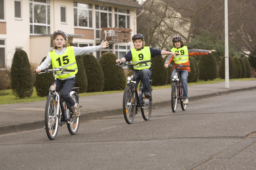 Fahrradfahren nie ohne Helm.