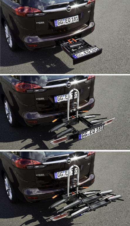 Flexfix-Fahrradträger des Opel Zafira Tourer.