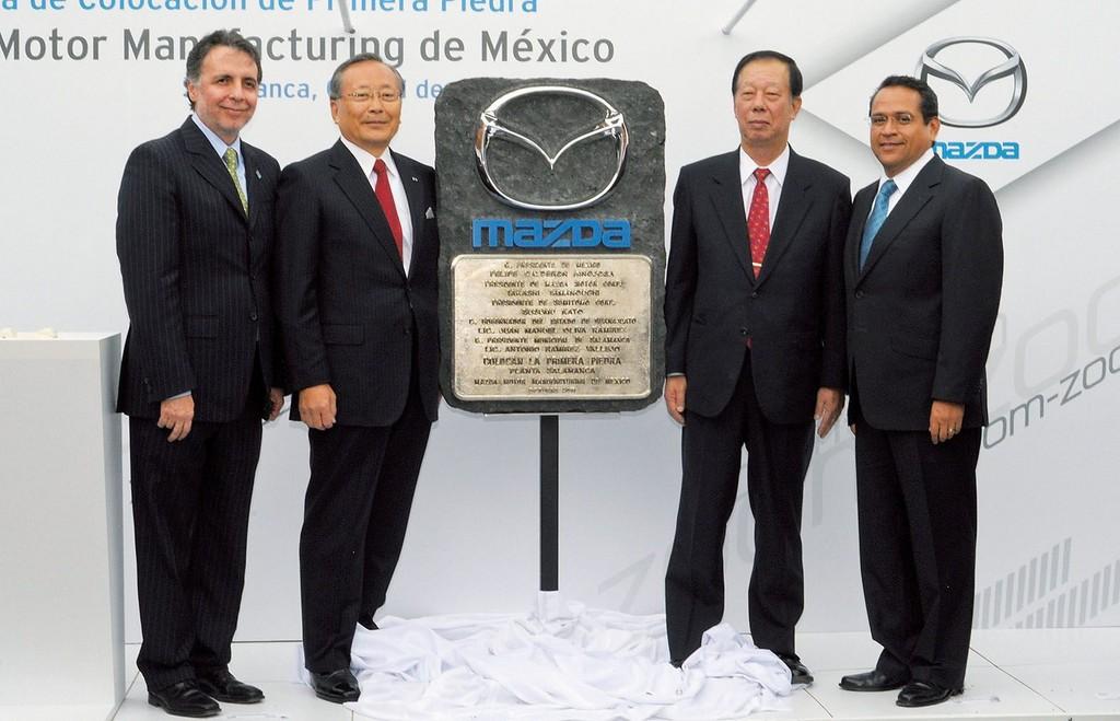 Grundsteinlegung für Mazda-Werk in Salamanca.