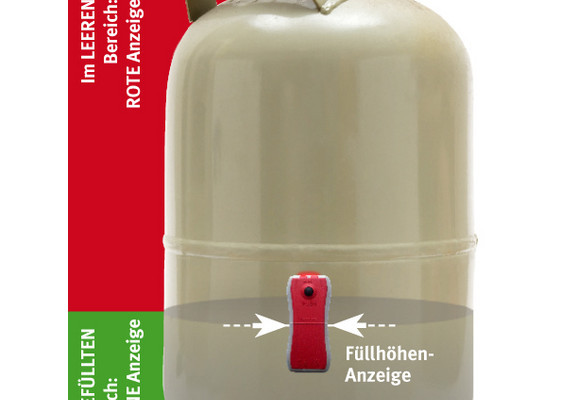Handlicher Füllstandsanzeiger für Gasflaschen
