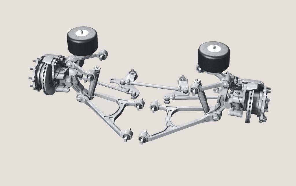 Hoher Radeinschlag: Die Niederflureinzelradaufhängung RL 75 EC sorgt für besseres Handling und steigert den Fahrkomfort.