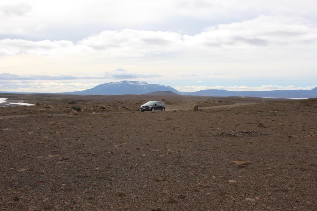 Im Winter ist das Vulkangestein manchmal auch von Schnee bedeckt