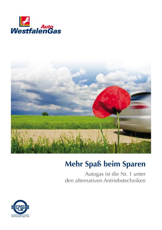 Kostenlose Broschüre: Mit Autogas fahren und sparen.