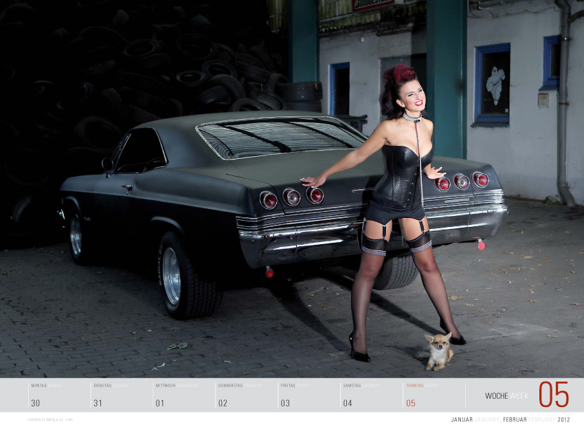 "Kunst mit Kurven – ""Girls & Legendary US-Cars"" Kalender 2012"
