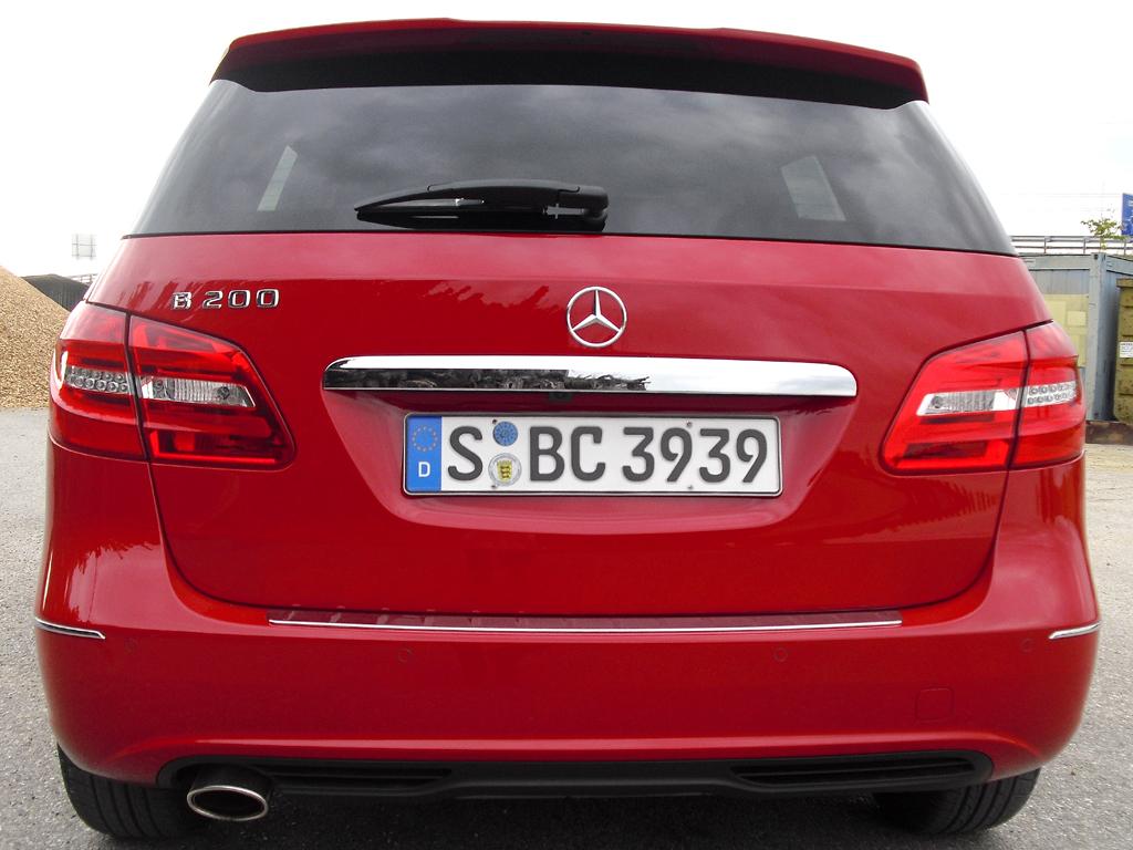 Mercedes B-Klasse: Blick auf die Vollheckpartie.