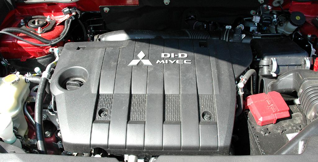 Mitsubishi ASX: Blick auf den 1,8-Liter-Vierzylinder-Selbstzünder.