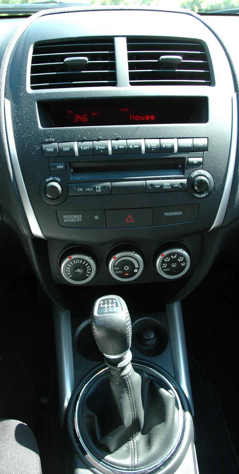Mitsubishi ASX: Blick auf den mittleren Armaturenträger.