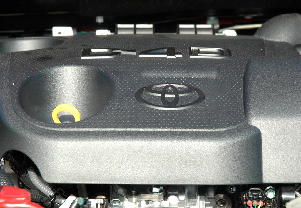 Toyota Yaris: Blick unter die Haube, hier des 1,4-Liter-Selbstzünders.