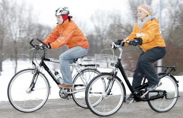 : Mehr Winter-Fahrradfahrer unterwegs